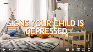 YouTube video of Signs your child is depressed